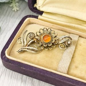 Vintage Chinese Export Filigree Sterling Pin